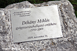 Commemoration of Miklós Dékány
